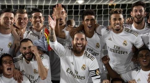 ראמוס ושחקני ריאל חוגגים (La Liga)