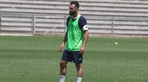 עבדאללה ג׳אבר באימון (שלומי גבאי, הפועל חדרה)