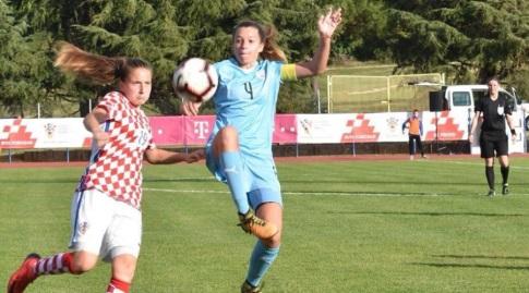 אירנה קוזנצוב במדי נבחרת ישראל (מיקה כץ) (מערכת ONE)