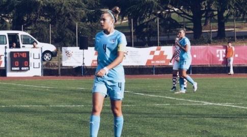 אירנה קוזנצוב במדי נבחרת ישראל (מיקה כץ)