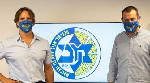 """עדלי מרכוס וארז שמול (צילום: מכבי ת""""א, האפליקציה הרשמית)"""