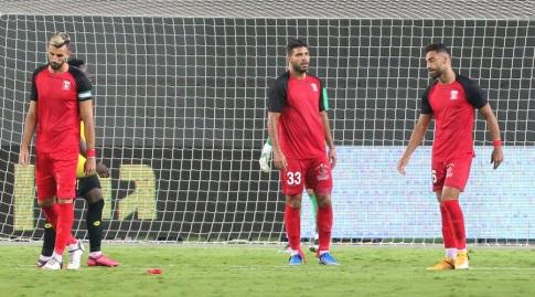 Sakhnin players in shock (Shahar Gross)