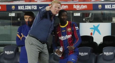 Osman Dembele and Ronald Koeman (Reuters)