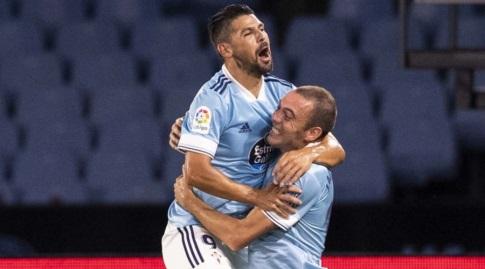 יאגו אספאס חוגג עם נוליטו (La Liga)