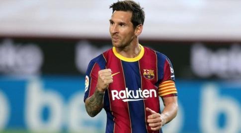 ליאו מסי חוגג (האתר הרשמי של ברצלונה)