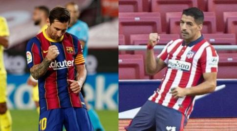סוארס ומסי. הפרעוש היה רוצה את החבר מאורוגוואי איתו בארוחה, אך הוא כמובן לא הוזמן (La Liga)
