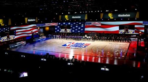 האולם באורלנדו לפני המשחק (רויטרס)
