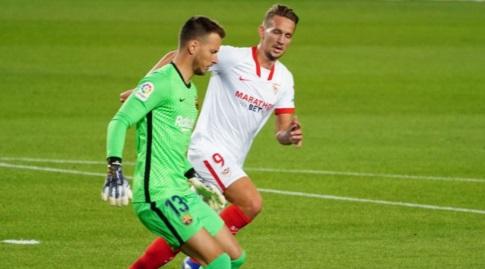 לוק דה יונג ונטו במהלך המשחק (La Liga)