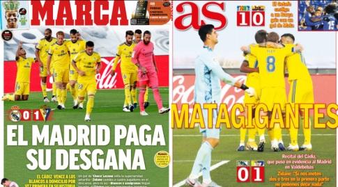 כותרות העיתונים בספרד (מערכת ONE)