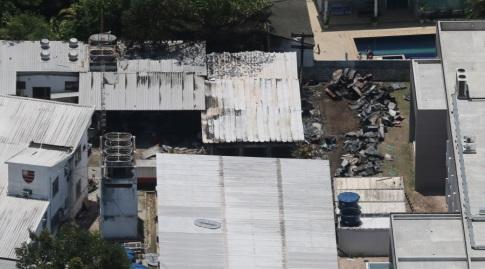 מעונות הכדורגלנים שנשרפו בפלמנגו (רויטרס)