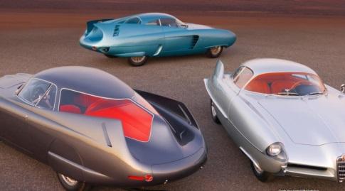 שלוש המכוניות יחד (Ron Kimball/RM Sotheby's)