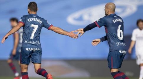 סנדרו רמירס ודויד פריירו חוגגים (La Liga)