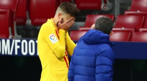 ג'רארד פיקה יוצא בבכי מהמגרש (La Liga)