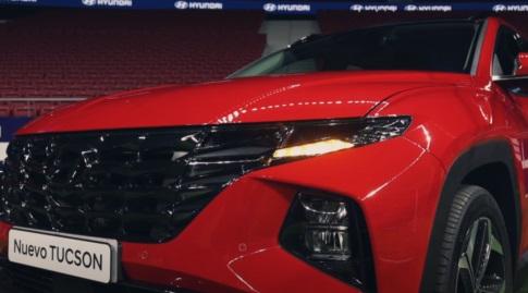 """ה-Hyundai Tucson 2021 בתוך האצטדיון (צ""""מ יו-טיוב)"""