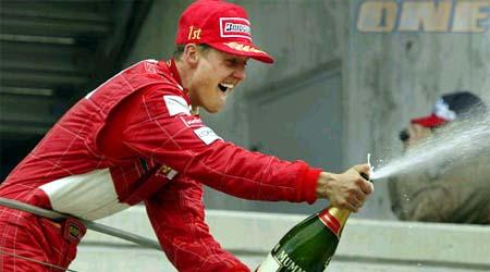 מיכאל שומאכר בימים שבהם השמפניה זרמה כמו מים (רויטרס)