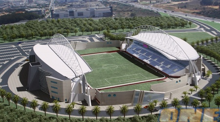 אצטדיון נתניה. יהיה מוכן באוגוסט 2012