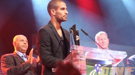 גל אלברמן מקבל את פרס כדורגלן העונה (תומר גבאי)
