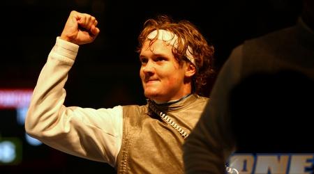 ג'ושוע מגווייר חוגג את הניצחון הבוקר (Getty Images)