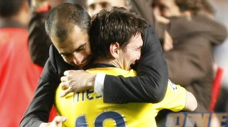 גוארדיולה ומסי. הפך את הארגנטיני לשחקן הטוב בעולם (רויטרס)