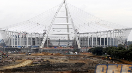 ההכנות למונדיאל בדרום אפריקה. היכן ייערך הטורניר בסוף העשור הבא? (רויטרס)