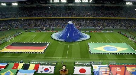 הטקס לפני גמר מונדיאל 2002. היפנים רוצים לארח הפעם לבד (רויטרס)