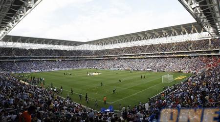 ככה נראה האצטדיון החדש של אספניול כשעה לפני המשחק (רויטרס)