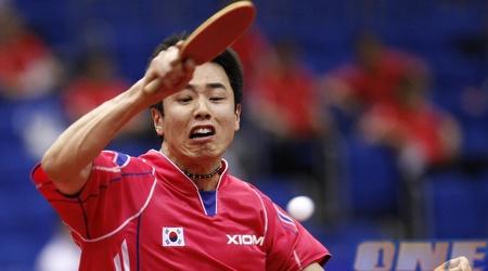 שחקן טניס שולחן מדרום קוריאה. נגיע לרמה שלהם? (רויטרס)