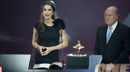 רניאה, מלכת ירדן. גם היא לקחה חלק בטקס (GettyImages)