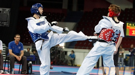 בת אל גטרר במהלך הקרב שלה באליפות אירופה, היום (נעם עופרן)