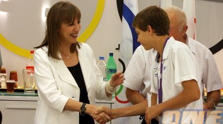 לבנת וזוכה מדליית הזהב בטקוואנדו, חיימוביץ (יניב גונן)