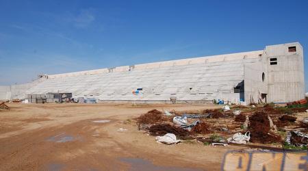 """עבודות הפיתוח באצטדיון החדש בפ""""ת. ייקרא """"אצטדיון המושבה"""" (שי לוי)"""
