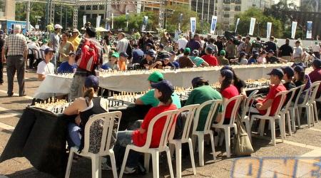 היריבים מחכים לאליק. יותר מ-500 אנשים לקחו חלק באירוע (משה חרמון)
