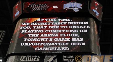 ההודעה על ביטול המשחק בין אורלנדו למיאמי (GettyImages)