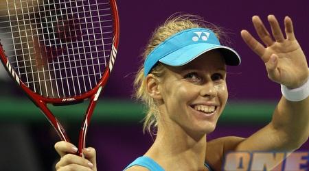 דמנטייבה אומרת שלום לטניס ממרומי הדירוג (רויטרס)