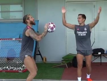 משחק חיובים באימון של ריאל מדריד
