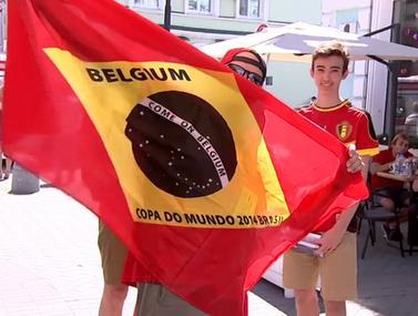 אוהדי בלגיה וברזיל מתכוננים למשחק