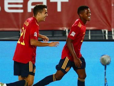 הילד חגג שער ונכנס לספרי ההיסטוריה של נבחרת ספרד