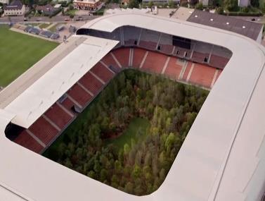 מיצג סביבתי חשוב באצטדיון כדורגל אוסטרי