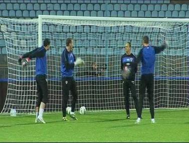 קרואטיה מוכנה למשחק מול לטביה