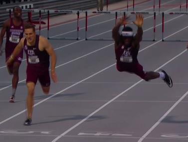 """מרוץ משוכות 400 מטרים במכללות בארה""""ב סיפק סיום דרמטי"""