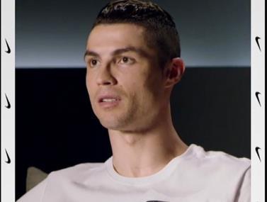 רונאלדו בפרסומת חדשה מדבר על המספרת שלו