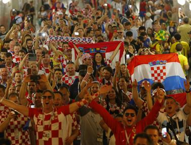 אוהדי קרואטיה בטירוף לגמר
