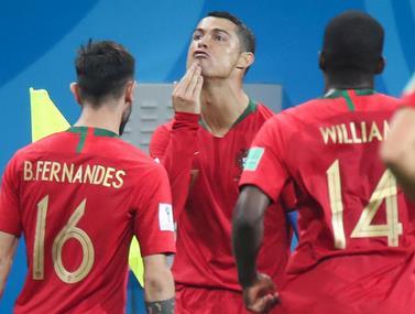 ההסבר לחגיגה המשונה של רונאלדו במשחק מול ספרד