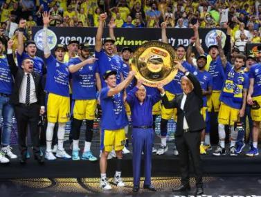 """צפו: מכבי ת""""א זוכה באליפות לעונת 20/21"""