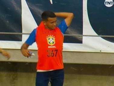 רגע מוזר בליגת העל בברזיל