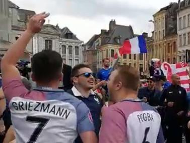 צפו באוהדי צרפת ושוויץ מתכוננים למשחק