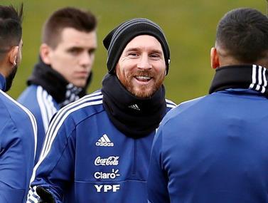 סרטון שנבחרת ארגנטינה שחררה מהאימון לקראת המשחק