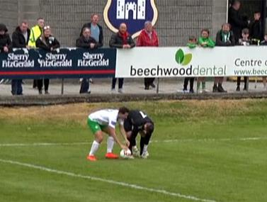 צפו ברגע נדיר מליגת העל באירלנד