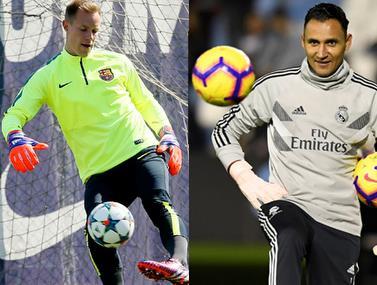 שני השוערים מראים יכולות טכניות עם הכדור