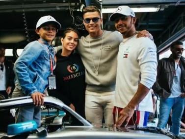 משפחת רונאלדו פגשה את המילטון במונאקו
